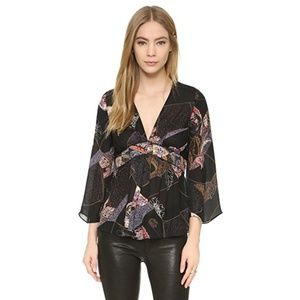 NWT Elizabeth and James Maura Silk Blouse Size S